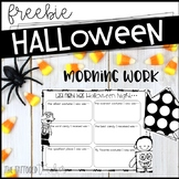 (the day after) Halloween Morning Work FREEBIE