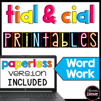 Suffix Activities -tial and -cial