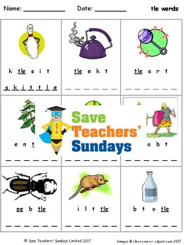 -tle words lesson plan, worksheets and other teaching resources
