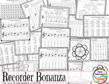 Recorder Resource: DC-BAG Bonanza - 20 Page No-Prep Recorder worksheets!