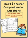 Read and Answer- Comprehension Questions