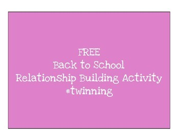 #twinning: Back to School Relationship Building Activity
