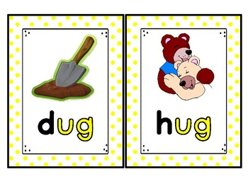 -ug Word Family Cards