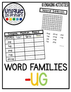 -ug Word Family Pack NO PREP