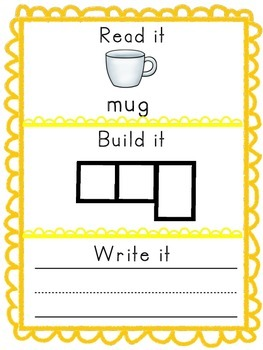 -ug Word Family Packet, Read it, Build it, Write it Activities and Assessments!