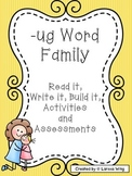 -ug Word Family Packet, Read it, Build it, Write it Activi
