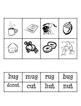 -ug and -ut Word Families