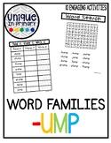 -ump Word Family Pack NO PREP