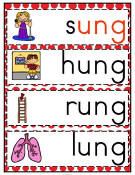 'ung' Word Family CVCC Word Work