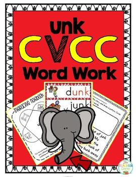 'unk' Word Family CVCC Word Work