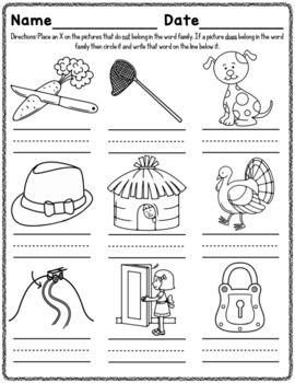 ut Word Family Worksheets by Red Headed Teacher | TpT
