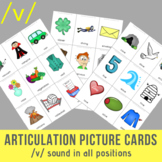 /v/ Sound Articulation Picture Cards - V Sound In All Positions