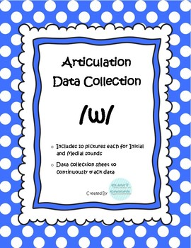 /w/ Articulation Data Collection Progress Monitoring Tool