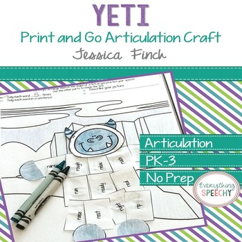 Print and Go Articulation Craft: Yeti