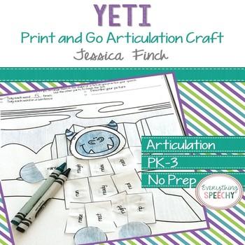Print and Go Articulation Craft: Yeti