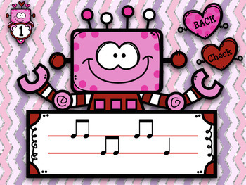 Robots Love Melodies! Stick/Staff Practice Game - so/mi