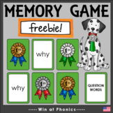 'wh' Question Word Game Cards for Snap, Memory, Reading an