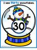 Snow globe Counting mats {winter MATH center}