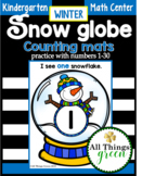 Snow globe Counting mats {winter MATH center}