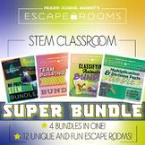 STEM NO PREP SUPER BUNDLE - Escape Rooms STEM Math & Team