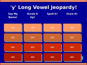 y Long Vowel Jeopardy! (long i sound)