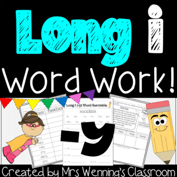 Long i (-y) Pack! A week of Lesson Plans, Activities, and Word Work!
