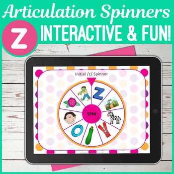 NO PRINT /z/ Articulation Spinners - /z/ In All Positions