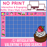 /z/ Articulation Valentines Day Game - No Print - Food Search Game