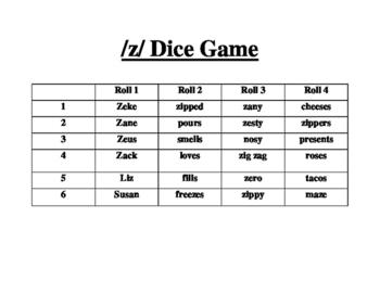 /z/ Dice Game