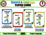 /z/ Speech & Language Playing Cards