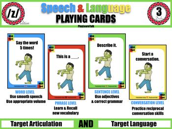 /z/ Speech & Language Playing Cards