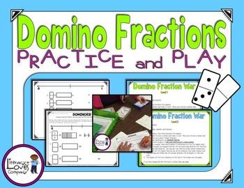 Domino Fractions Math Station FREEBIE