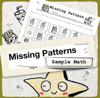 Freebie Missing Patterns (Fun Math for kids)