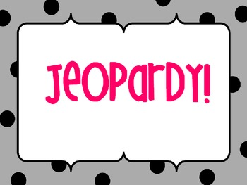 Jeopardy 1st Grade {Common Core Math Review}