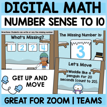 Kindergarten MISSING NUMBERS to 10 Digital Math Activity| Distance Learning