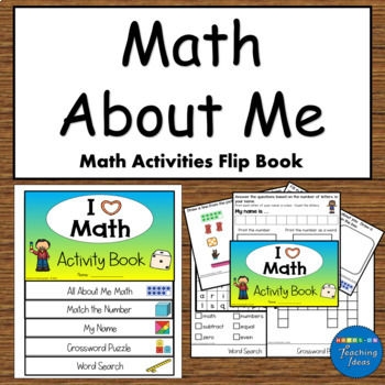 Math About Me Math Activities Flip Book