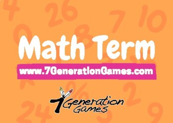 Math Terms - Multiplication