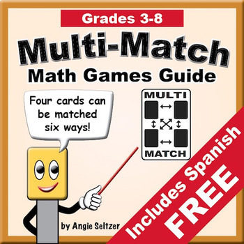 Multi-Match Math Games Guide with Create-A-Game Templates | Distance Learning