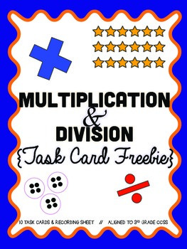 Multiplication and Division Review: Task Cards