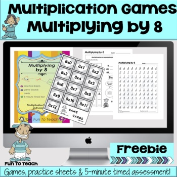 Multiplying by 8 - Math Multiplication Facts Games and Activities