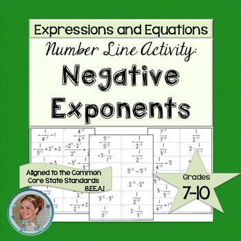 Negative Exponents Number Line Game