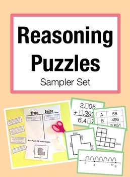 Reasoning Puzzles Sampler: Activities for Math Talk (Gr. 2-4)