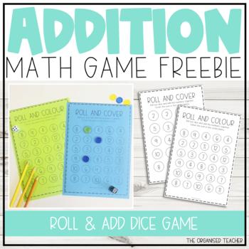 Roll and Add Freebie Math Game