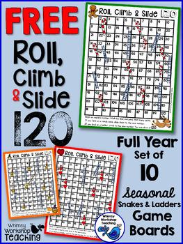 Seasonal 120 Chart Game Boards