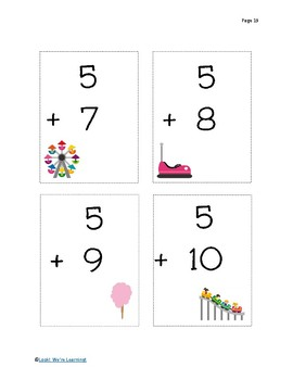 0-10 Addition Flashcards - State Fair Fun!