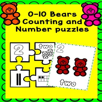 0-10 Bears Counting and Number puzzles