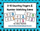 0-10 Counting Fingers & Number Matching Cards