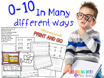 0-10 In Many Different Ways {Differentiated}