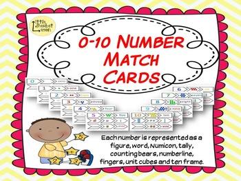 0 - 10 Matching game cards