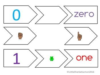 0 - 10 Matching game cards sampler version